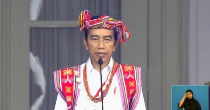 Bangga Presiden Jokowi Kenakan Busana NTT di HUT RI Ke-75